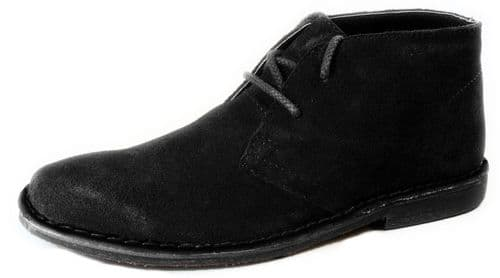 Red Tape - Gobi Black Suede Lace Up Desert Boots